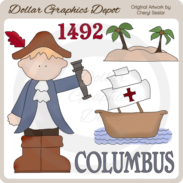 Clip Art Christopher Columbus Clipart christopher columbus clip art 1 00 dollar graphics depot art