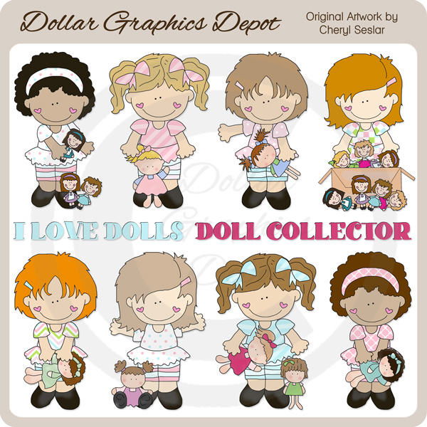 Dolly Girls - Clip Art - *DGD Exclusive* - Click Image to Close