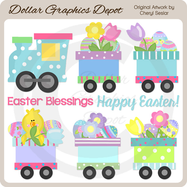 Easter Train - Clip Art - Click Image to Close