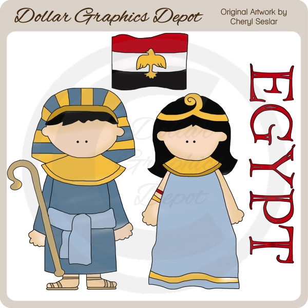 Egyptian Kids - Clip Art - Click Image to Close