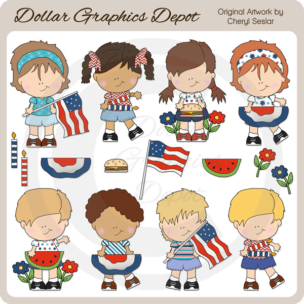 Fourth of July Fun - Clip Art - Click Image to Close