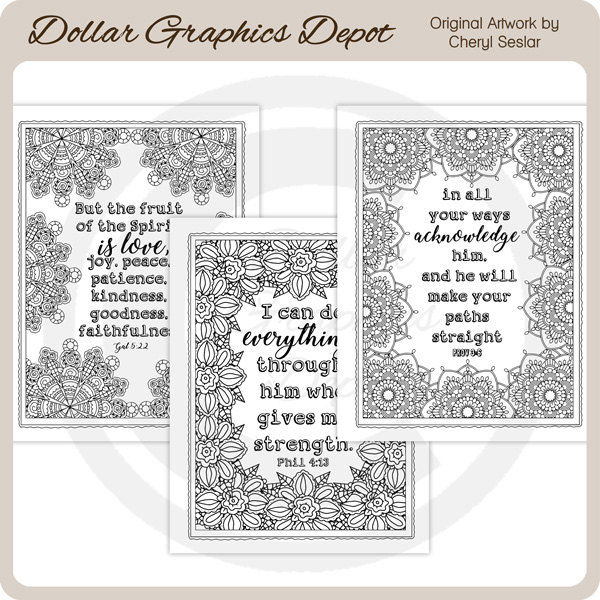 God's Word 1 - Coloring Pages - Click Image to Close