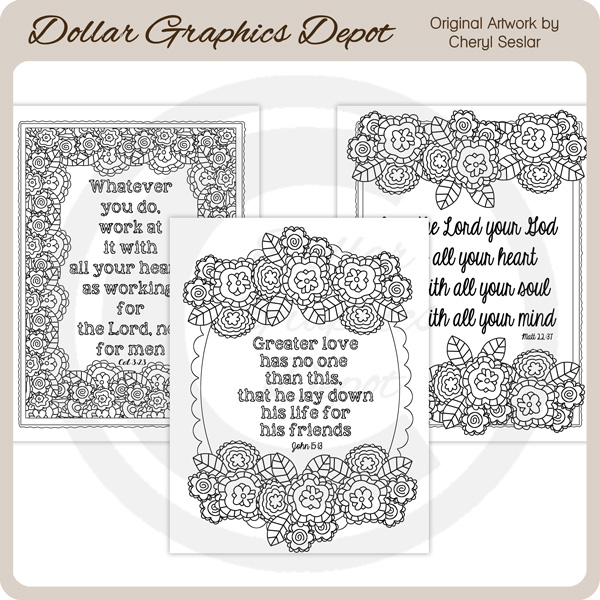God S Word 3 Coloring Pages 1 00 Dollar Graphics Depot