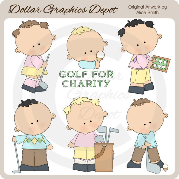 Golfers - Clip Art - *DGD Exclusive* - Click Image to Close