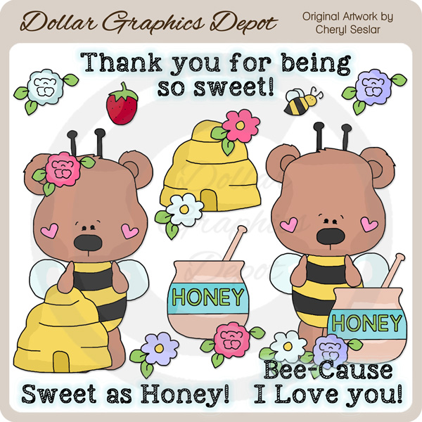 Honey Bear - Clip Art - Click Image to Close