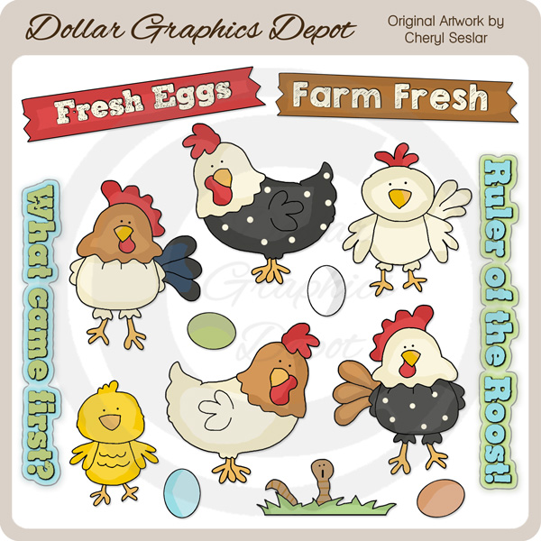 In The Chicken Coop - Clip Art - Click Image to Close