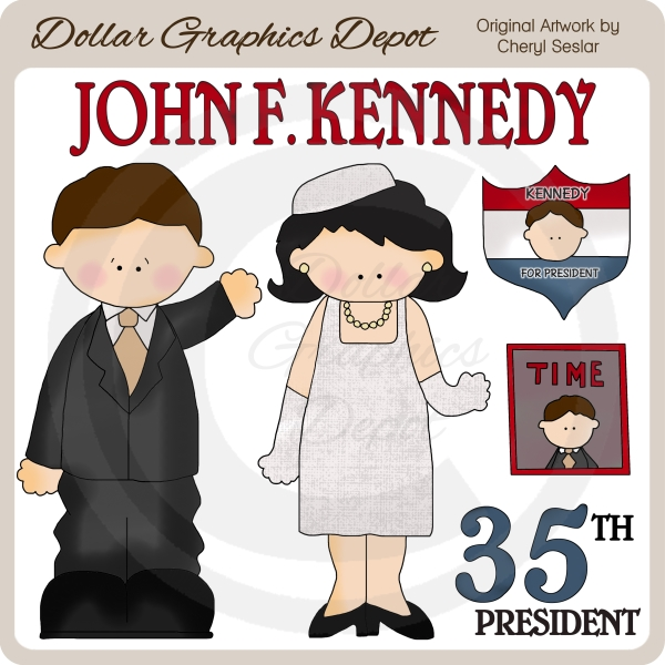John F. Kennedy - Clip Art - Click Image to Close