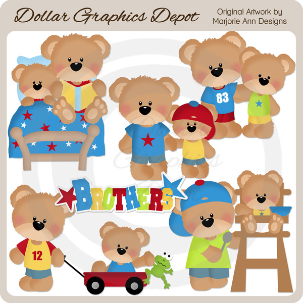 Little Bear - Brothers - Clip Art - Click Image to Close