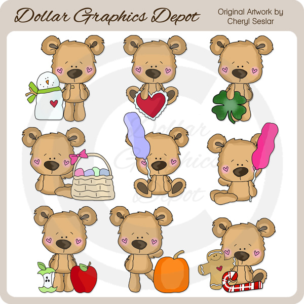 Little Bears - Calendar Helpers - *DGD Exclusive* - Click Image to Close