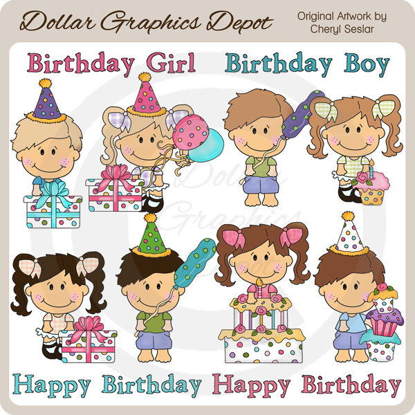 Little Cuties - Birthday Party - Clip Art - Click Image to Close