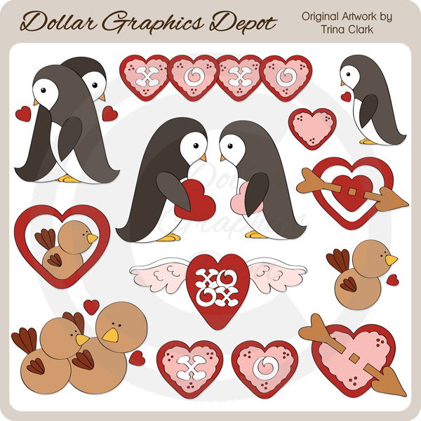 My Feathered Valentine - Clip Art - Click Image to Close