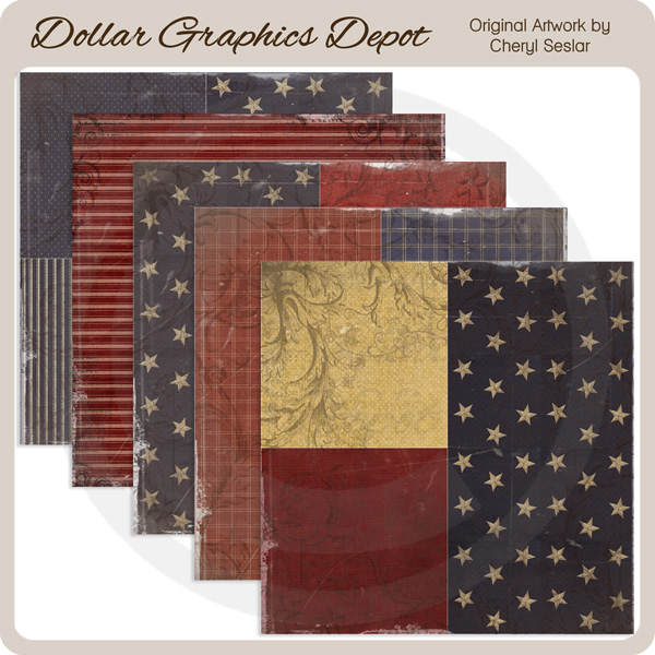 Old Glory - Scrap Papers - Click Image to Close