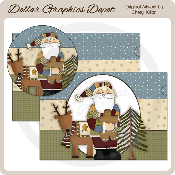 Patchwork Santa - Paint Can Set - Click Image to Close