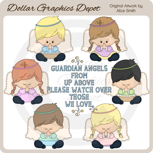 Prayer Angels - Clip Art - *DGD Exclusive* - Click Image to Close