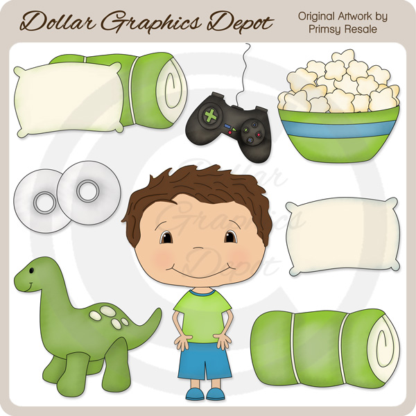 Sleepover Boys 2 - Clip Art - $1.00 : Dollar Graphics Depot ...