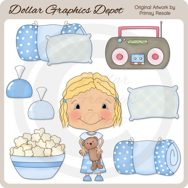 Sleepover Girls 4 - Clip Art - $1.00 : Dollar Graphics Depot ...