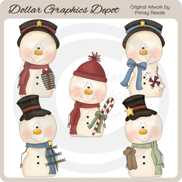 Snow Friends 1 - Clip Art - Click Image to Close