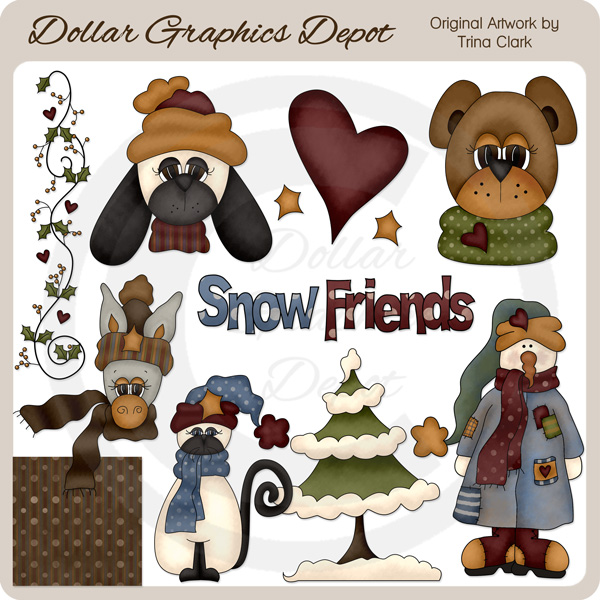 Snow Friends 2 - Clip Art - Click Image to Close