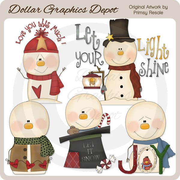 Snow Greetings - Clip Art - Click Image to Close