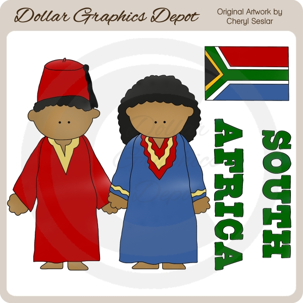 South African Kids - Clip Art - Click Image to Close