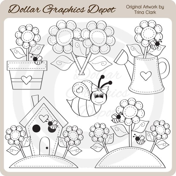 Summer Stitches - Digital Stamps - Click Image to Close