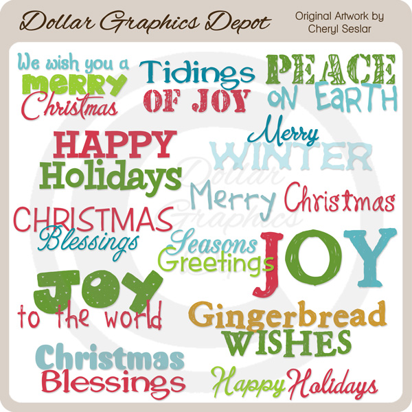 Sweet Holiday Word Art - Click Image to Close