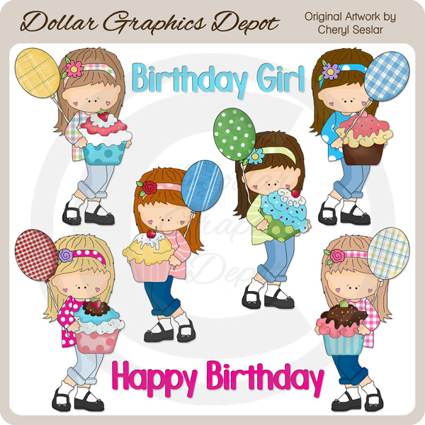 Teen Birthday Girls - Clip Art - *DGD Exclusive* - Click Image to Close