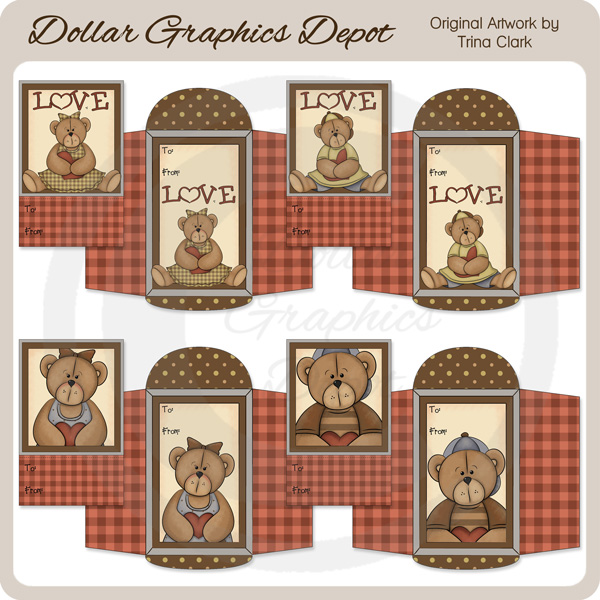 Valentine Cutie Bears - Valentines - Click Image to Close