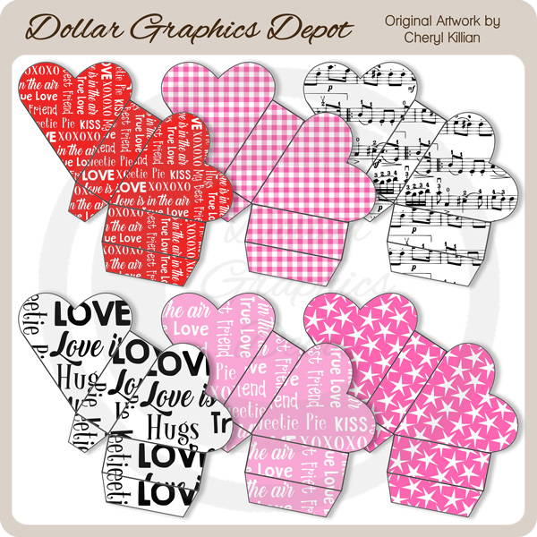 Valentine Heart Boxes - Click Image to Close