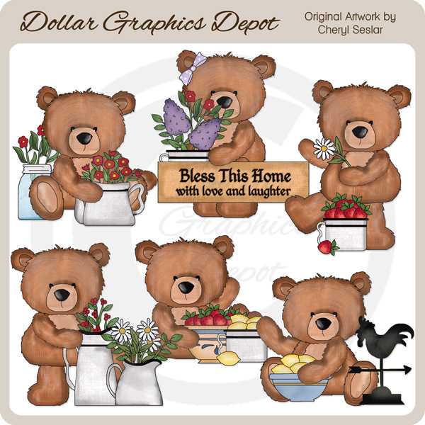 Wimbly The Country Bear - Clip Art - Click Image to Close